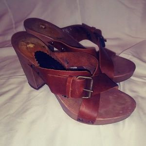 GIANLUCA Brown Italian Leather Sandals
